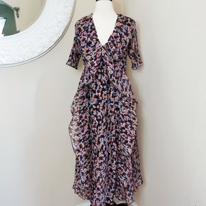 Floral Open Back Dresd